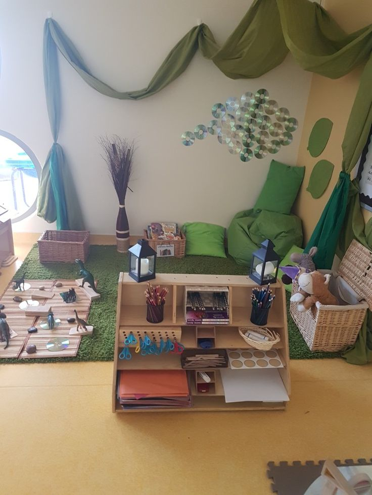 Nature themed nature nature themedplayroom | Preschool rooms. Eyfs classroom. Toddler classroom