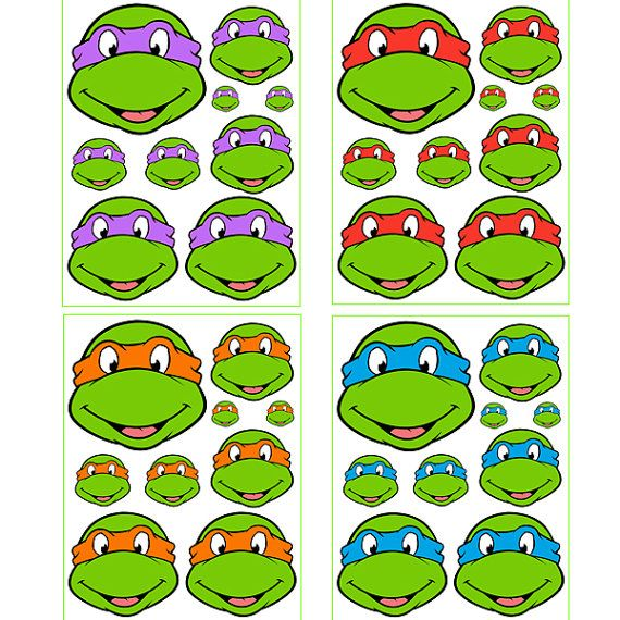 Instant Download Turtles for Balloon Stickers Lollipop por Inulja