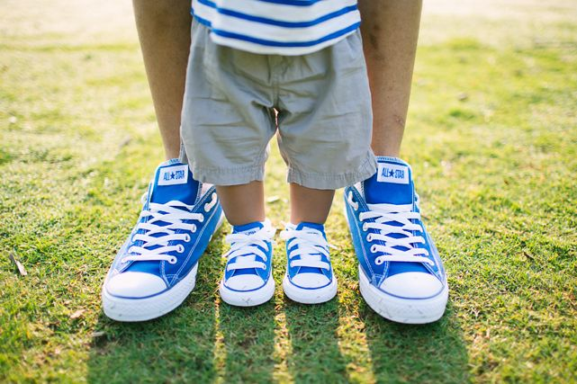So cute. Matching daddy and baby shoes. Do this after we have McKinley for a family photo.