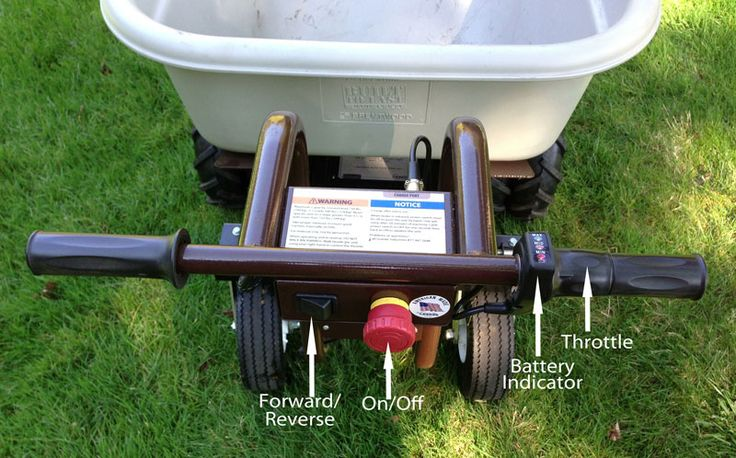 Ever used an electric wheelbarrow? This one's easy to control and makes moving heavy loads a breeze - #GPR #gardening