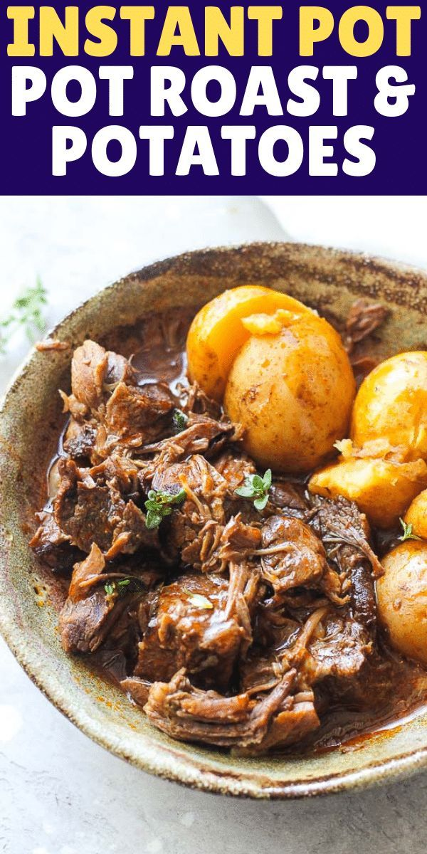Quick, easy dump and start instant pot beef pot roast with potatoes recipe is ou…   – Instant Pot Lunch/Dinner