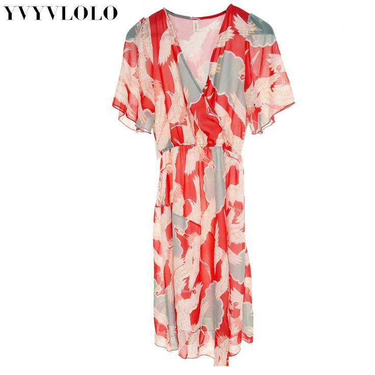 2017 New Summer printing Bohemian style Dress Women Beach Dresses Split the fork Sexy Dress vestidos FF-W70