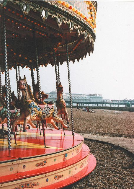 The Horse Merry Go Round Ride on Brighton Beach Brighton East Sussex England