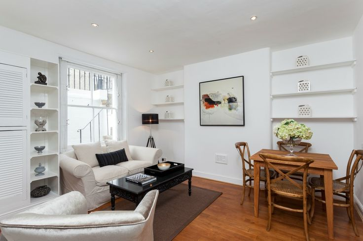 Reception room basement flat London SW10 #cutlerandbond #basementflat #gardenflat #londonproperty
