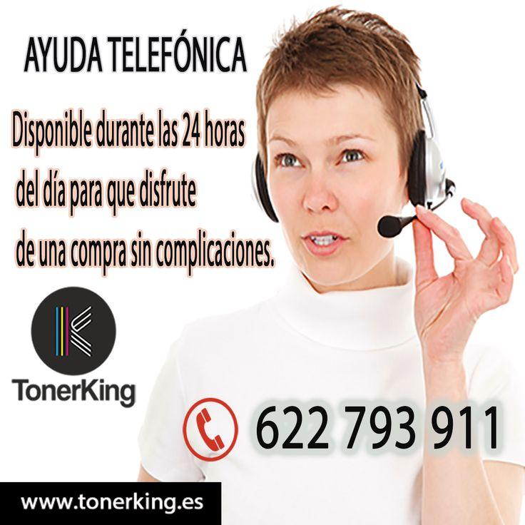 En Tonerking disponemos de un servicio de atención telefónica (TELÉFONO: 622 793 911), durante las 24 horas del día para que disfrute de una compra sin complicaciones en nuestra tienda onlines. +info: https://tonerking.es/ #tinta #tóner #impresora #consumibles #cartuchos #HP #Canon #Epson #Brother #Oki #samsung