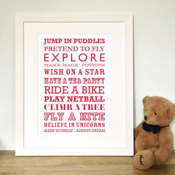 Christening Typographic Print - A4 - Makes for a great personalised Baptism gift for baby girls or baby boys - Louie?