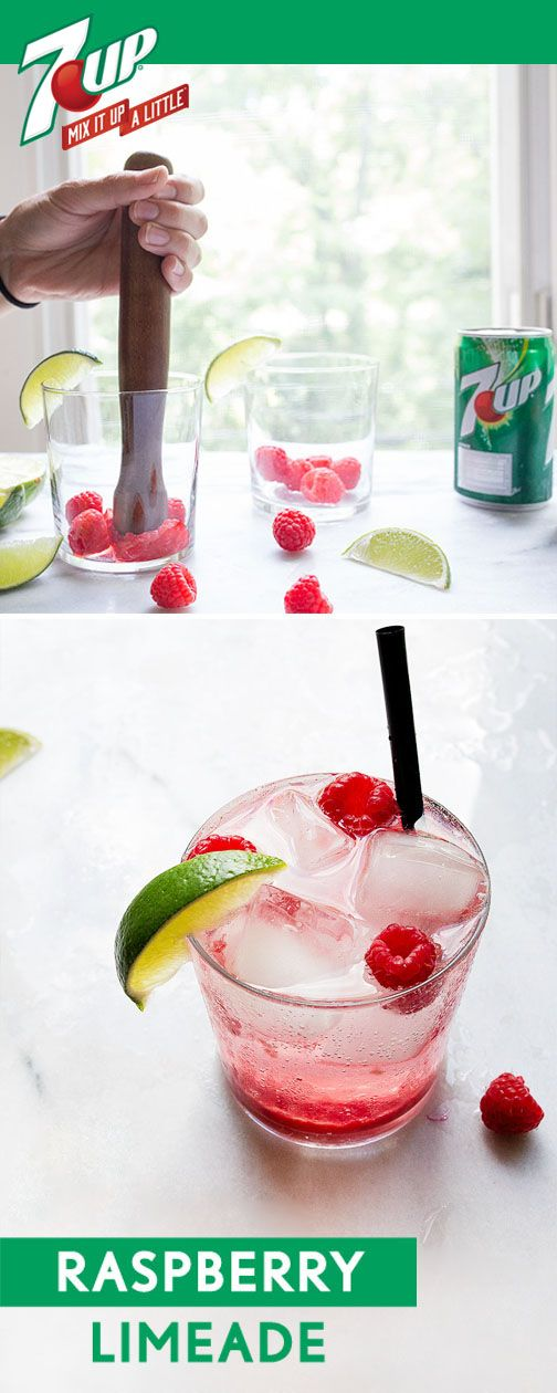 Raspberry + lime is one iconic flavor combination. Enjoy everything this delicious duo has to offer with this recipe for Fresh Raspberry Limeade! By picking up 7UP® from Target, along with raspberries, limes, and vodka, this cocktail can be ready for any occasion this summer. Bridal shower, pool party, BBQ, you name it—all your guests will love the hints of berry, citrus, and bubbles found in this refreshing drink!