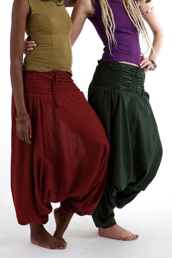 unisex Afghan pants  ASSORTED COLOURS yoga by GekkoBoHotique
