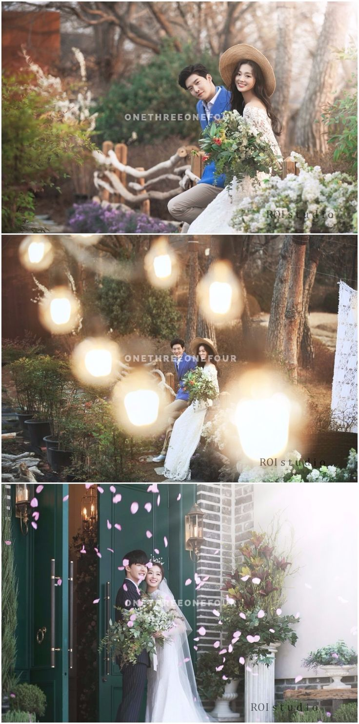 Lovely Outdoor Couple Pre-wedding Shoot With A Korean Studio - Roi Studio, Floral, Wedding, Outdoor
