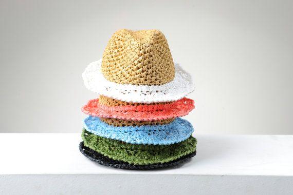 Women's Hat, Summer Hat, Raffia Hat, Fedora hat, Handmade Hat, Sun hat, Crochet Hat