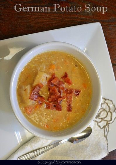 German Potato Soup - a Slow Cooker recipe from Cosmopolitan Cornbread