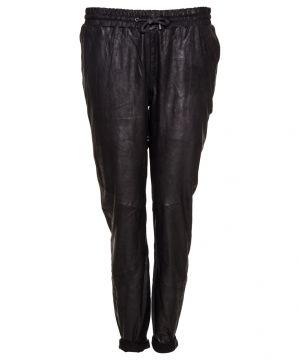 Baggy læderbukser |Selected Femme |sftonga mw leather p |Bukser | bergshop.dk