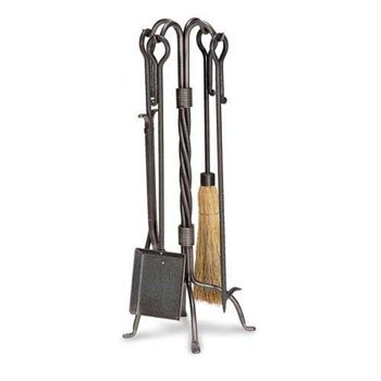 5 Piece Traditional Fireplace Tool Set by Pilgrim Home and Hearth at Timeless Wrought Iron
