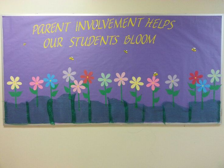 Parent Involvement Spring Board I Made For My Son S School
