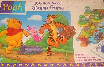 Winnie the Pooh 100 Acre Wood Stamp Game Parker Brothers