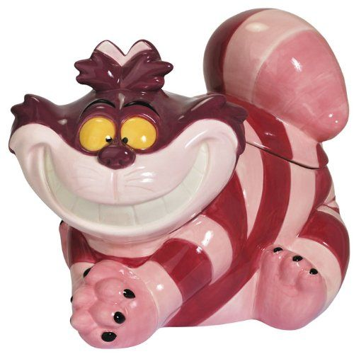 Cheshire Cat Ceramic Cookie Jar - http://geekarmory.com/cheshire-cat-ceramic-cookie-jar/