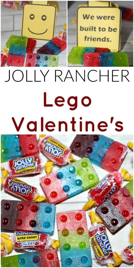Jolly Rancher Lego Valentines