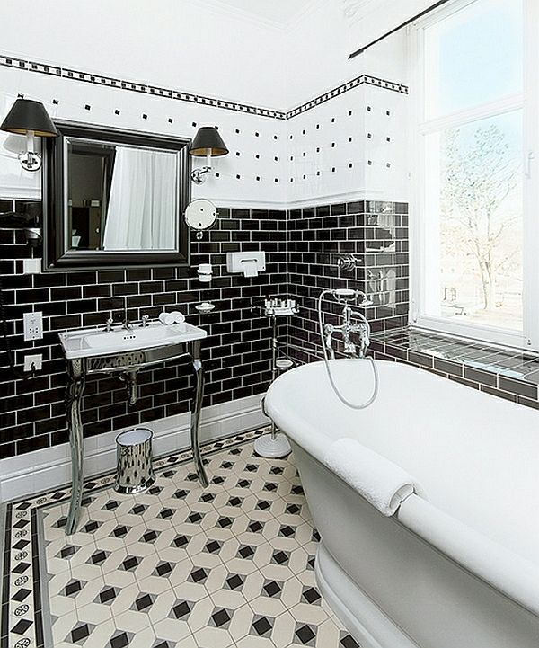25+ best badezimmer schwarz ideas on pinterest - Badezimmer Fliesen Wei Matt