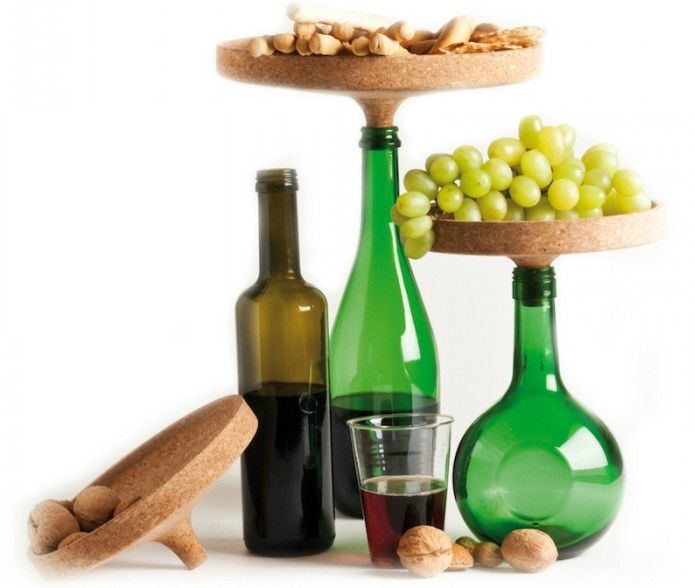 Repurpose empty wine bottles with the appo cork tray for Empty wine crates