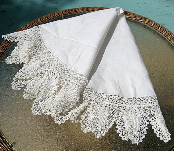 Love old linens!