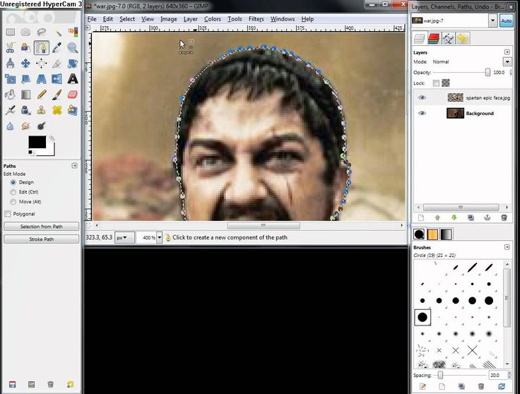 how to cut photo in gimp