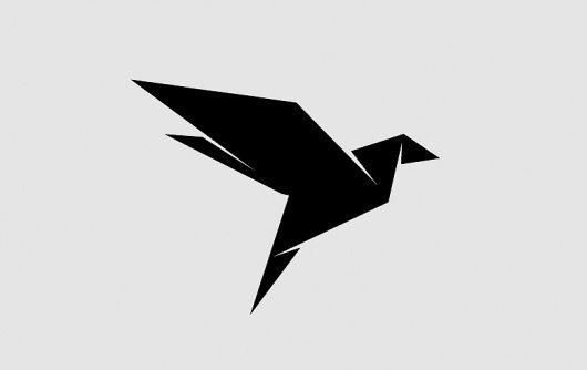 Minimal, Origami style bird. by susanne