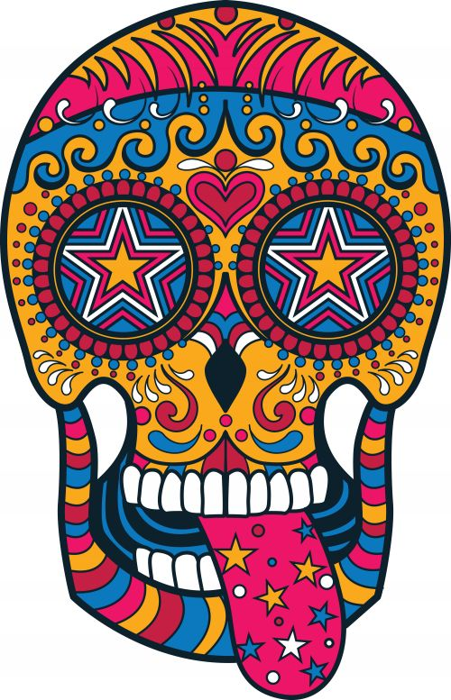 66 best images about sugar skull coloring pages on pinterest coloring pages day of the dead - Sugar skull images pinterest ...