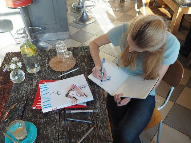 Irina Kay, fashion illustrator, textile print designer