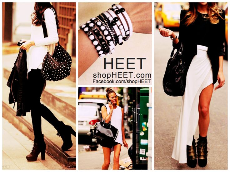 #BlackandWhite Fashion done right by adding #HEET in #black and #white #leather and #Swarovski. ShopHEET.com - 15% off you purchase w/ code LAHEET. HEET is a celebrity favorite #accessory featured in #GenLux, #AccessoriesMagazine, The Beauty Magazine, #RunwayMagazine, Black & Grey Magazine, #GoodMorningAmerica, #TheBachelorette, #E! + #FoodNetwork. Come see the new 2015 collection at #MagicMarketWeek in #LasVegas -#ENKVegas, Mandalay Bay Aug. 18 - 20 | Booth #24166
