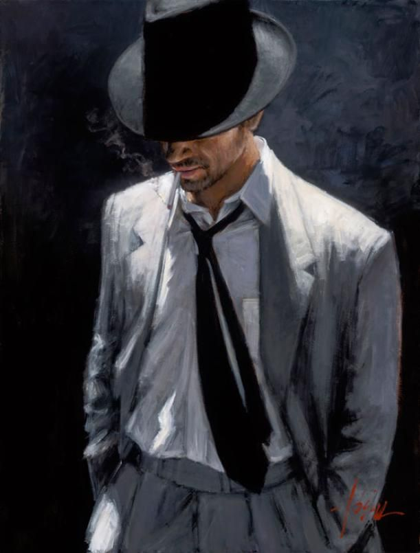 MAN IN WHITE SUIT IV by Fabian Perez