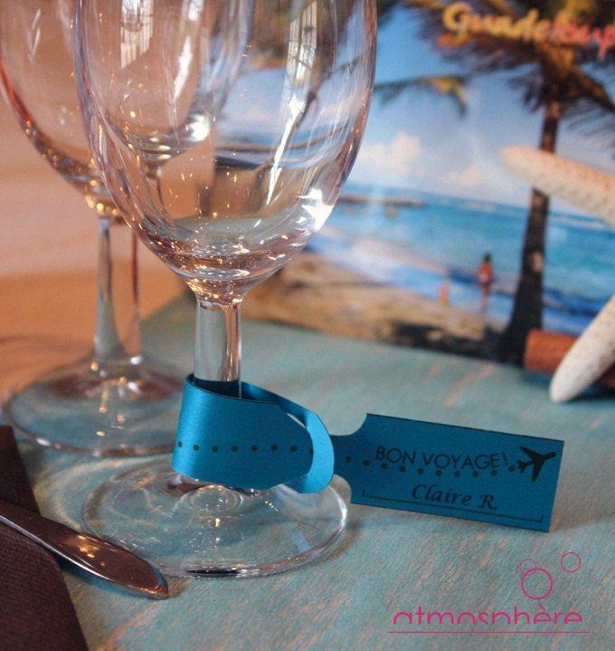 """Marque-place étiquette à bagages - Thème """"Voyage"""" de la boutique DecorationAtmosphere sur Etsy"""