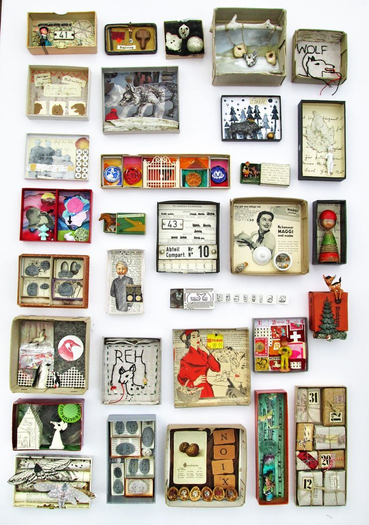 mano's welt: kunstschachteln 353 - 366 art boxes