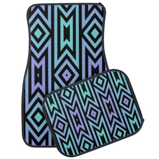 Modelo del Azteca de la lila/del trullo Alfombrilla De Coche