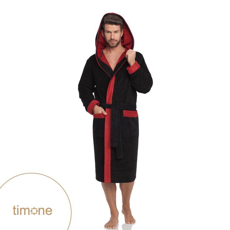 Timone hooded bathrobe #timone #bathwear