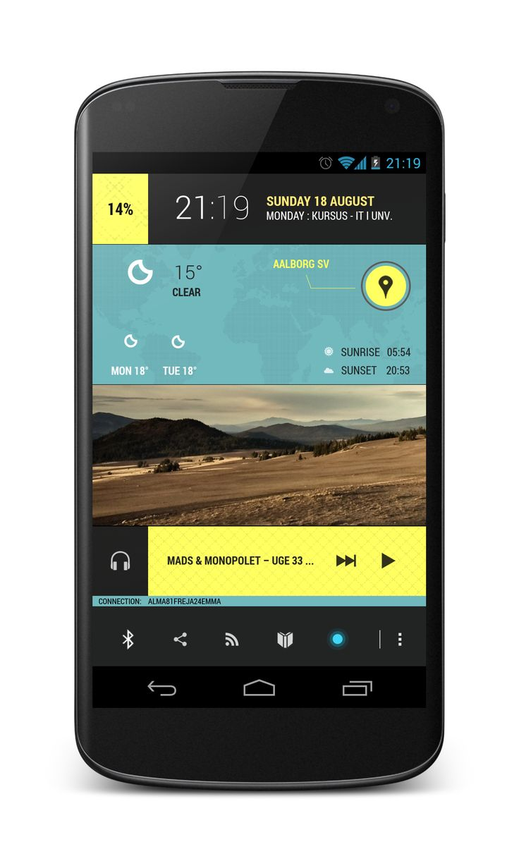 RideLine Android Homescreen