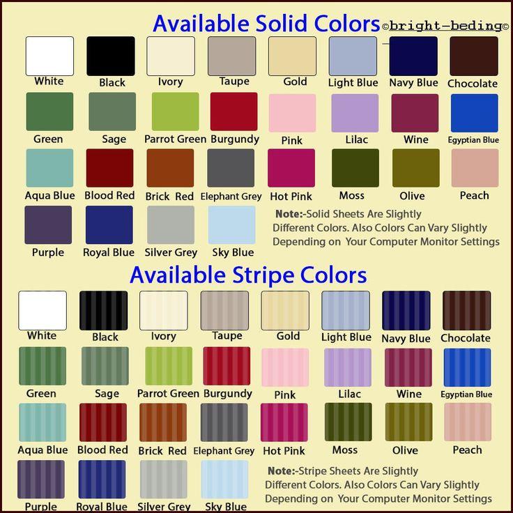1000TC Egyptian Cotton Pillow case 2 QTY Please choose Size & Color Free Ship
