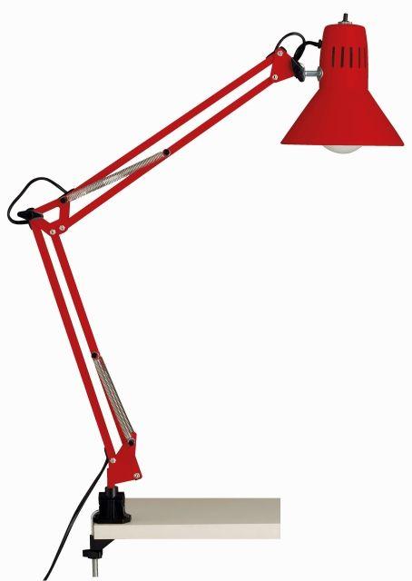 HOBBY - pracovná lampa červená