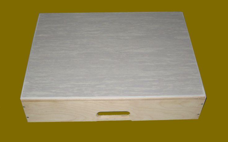 Pedana scalino Multistrato di betulla misure 60 x 40 x 21 H cm superfice superiore linoleum