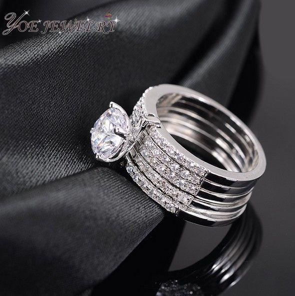Новое поступление ааа цирконий кольца Высокое качество платиновым покрытием роскошные свадьба обручальное кольцо для женщин 2015 мода ювелирные изделия.