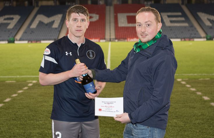 Queen's Park's Scott Gibson - Man of the Match after the SPFL League One game between Queen's Park and Arbroath