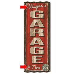 Personalized Corrugated Metal Garage Sign