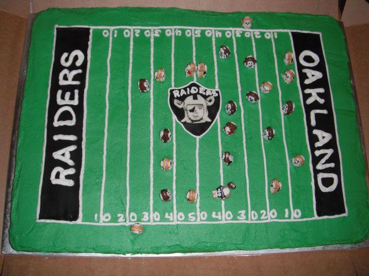 Oakland Raiders Skeleton Cake — Football / NFL