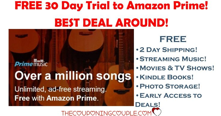 WOOHOO! If you like to listen to music, you are going to love this! Get FREE streaming music with a FREE 30 day trial to Amazon Prime!  Over a million songs! Plus free 2 day shipping! Free movies! Free TV! So much more!  Click the link below to get all of the details ► http://www.thecouponingcouple.com/amazon-prime-free-streaming-music-shipping-books-movies/ #Coupons #Couponing #CouponCommunity  Visit us at http://www.thecouponingcouple.com for more great posts!