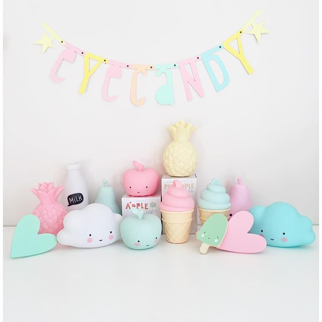 Cute pastel decorations for a kids room