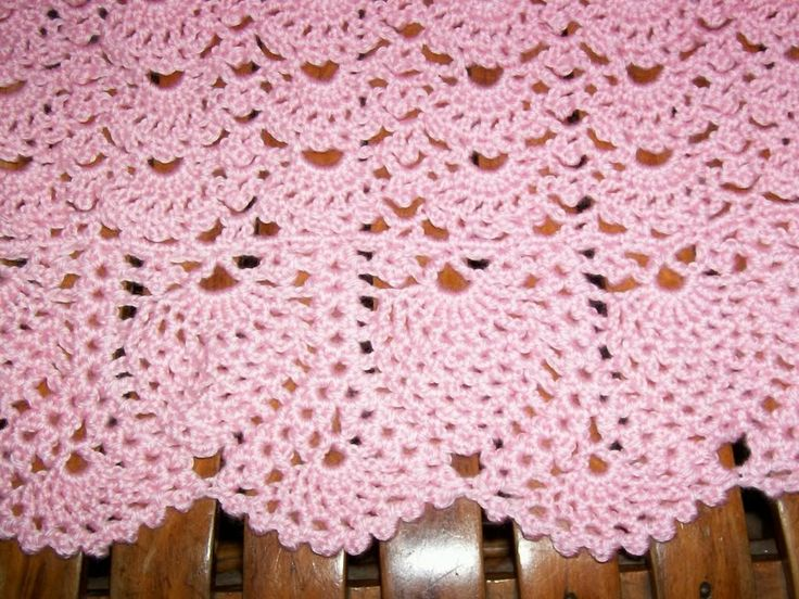 Image detail for -Crochet Projects :: Baby Pink Pineapple Lace Crochet Blanket picture ...