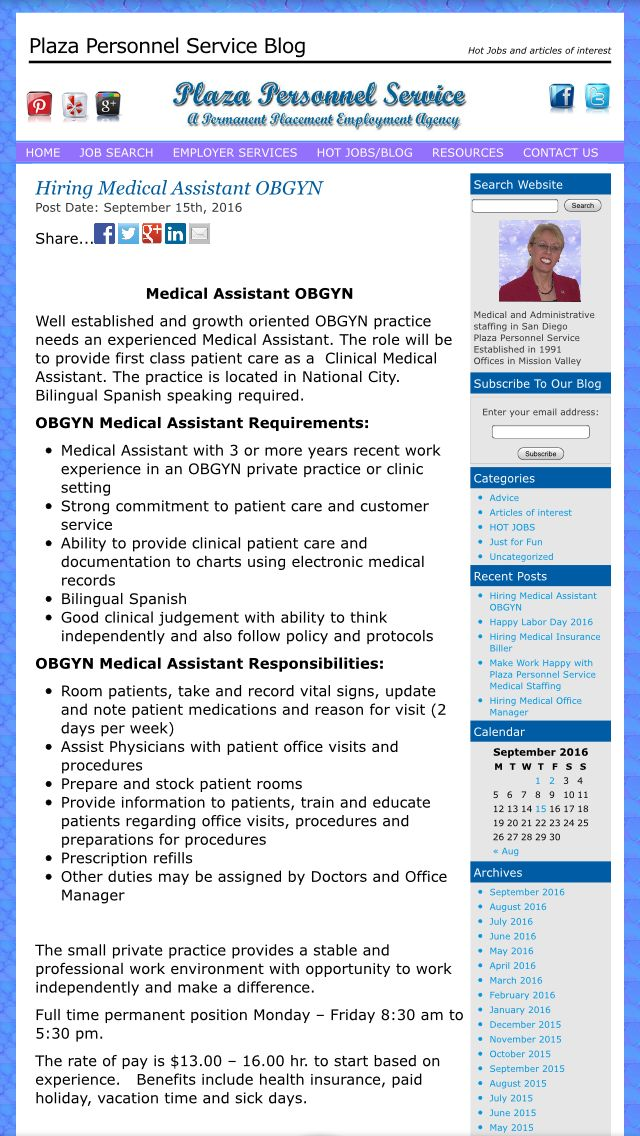 #MedicalAssistant #OBGYNMedicalAssistant #HiringMedicalAssistant  #MedicalAssistantJobs We Have A New Job Opening For An
