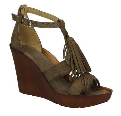 Bronx 84445 groene sleehak sandalen