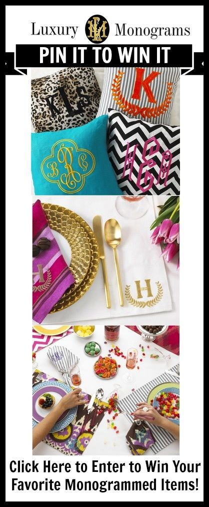 Click here to enter to win free monogrammed items: www.luxurymonograms.com