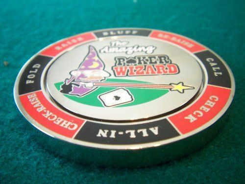 The Amazing Poker Wizard Weight . $14.99. The Amazing Poker Wizard Poker Weight actually spins! See were the wizard's wand lands to help you decide your next couse of action on the poker table. Very large and have (about 2 1/4 inch diameter and 60 grams)