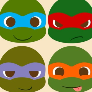Cute Cartoon Ninja Turtle DrawingsCartoonPrintable Coloring